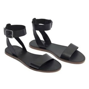 Madewell The Boardwalk Ankle Strap Flat Sandals